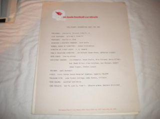 Pre Season team guide prospectus St. Louis Cardinals 1967 mint