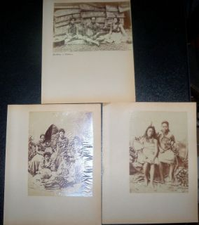 Albumen Photos of Samoan Siblings Brothers Sisters 1890s