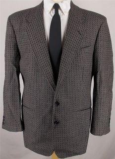 42 R Andrew Fezza BLACK BROWN GRAY TWEED WOOL sport coat jacket suit