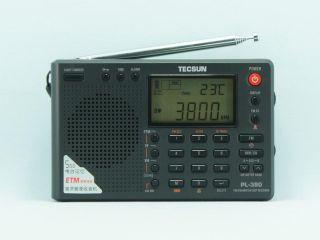 TECSUN PL 380 Black FM Stereo Am World Band DPS Radio