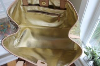 Michael Kors Large Amagansett Metallic Tote Pale Gold 30S11AST3Z