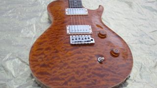 Paul Reed Smith SC Amber Quilt 10 Top Rosewood Neck 57 08 Pickups