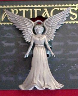 Beautiful Angel in Flowing Gown Pin JJ Designer Signed