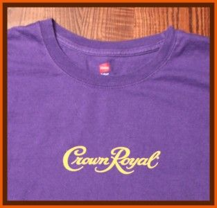 Crown Royal Canadian Whiskey Alcohol Official Company Logo Purple XL T