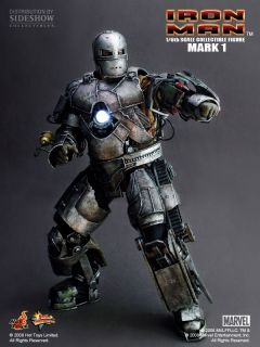 2008 Hot Toys Sideshow Iron Man Mark I MMS80 1st Version 12 Figure