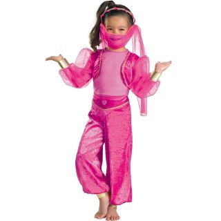 Little Girls Tickled Pink Genie Costume 3T 4T 4 6X Jumpsuit Headpiece