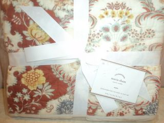 Pottery Barn Anna Maria King Quilt and Two Euro Shams