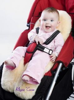 Sheepskin Lambskin Baby Stroller / Car Seat / Pram / Jogger / Buggy