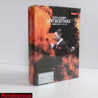 Andy Lau Unforgettable Concert Live 3 DVD 2 CD Limited Edition Hong