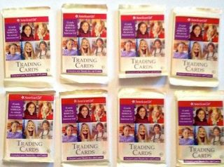 NEW 8 Packages of American Girl Trading Cards (96 total cards) Great