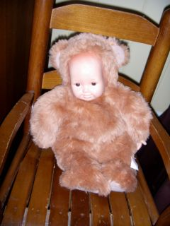 Anne Geddes Baby Doll Bear Costume Ann Plush 1997 Brown Tan 16 Large