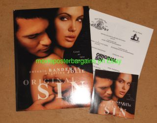 information policies original sin presskit with cd angelina jolie