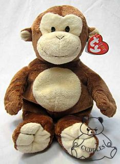 Pluffies Plush Toy Stuffed Animal Brown Ape Baby Pluffy BNWT S
