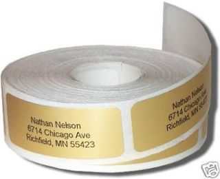 newly listed 600 gold return address labels on rolls time