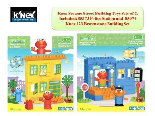 Kid Sesame Street Elmo Building Blocks Toys Sets of 2 (85373+85374
