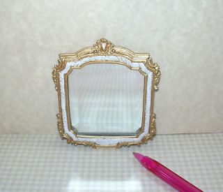 Beveled Square Wall Mirror w/Antiqued Frame DOLLHOUSE Miniatures 1/12