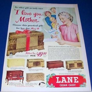 1950 lane cedar hope chest mother s day i love