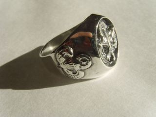 Old SPECIAL FORCES AIRBORNE RING STERLING SILVER 925 Vietnam 1961 75
