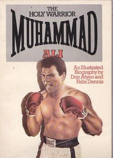 1975 THE HOLY WARRIOR MUHAMMAD ALI AN ILLUSTRATED BIOGRAPHY BOXING