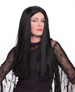 adult morticia addams family wig costume halloween