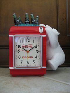 coca cola polar bear bank alarm clock