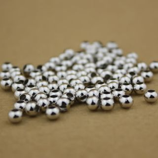200 Pcs Silver Plated Round Spacer Loose Beads Charms Findings 4mm