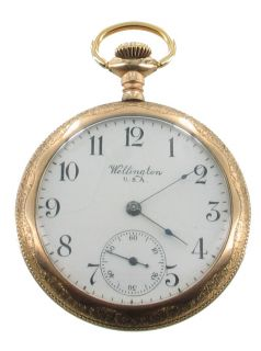 Antique Elgin Wellington USA GF Gold Filled Pocket Watch Working 1 5