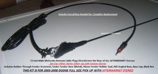 Exact Fender Fit Antenna Kit Black 31 Mast Dodge RAM 1500 2500 3500