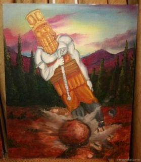 Shawn Wallace Good Boy Folk Art Painting Daniels Vision