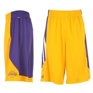LA Lakers   NBA Basketball Shorts   Yellow / Purple   S,M,L,XL
