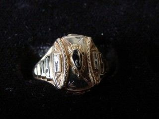 Old 10K Yellow/White/Rose Gold 1953 JHS High School Class Ring Size 8