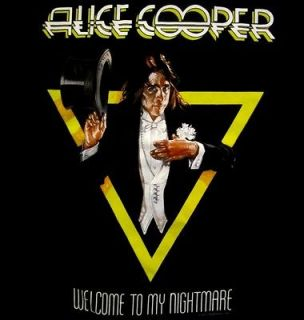 ALICE COOPER cd cv WELCOME TO MY NIGHTMARE Official SHIRT MED new