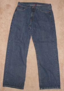 fubu platinum blue denim jeans mens size w38 l34