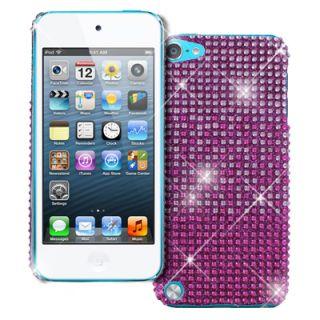 Apple iPod Touch 5 5th Gen Hot Pink Fade Diamante Bling Jewel Gem Case