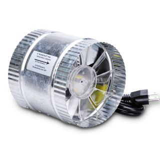 Duct Booster Fan 160CFM Exhaust Blower 6 Inch Cooling Vent Hydroponics