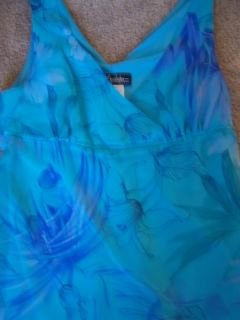 Junior Girls Semi Formal Homecoming Blue Dress Sz M