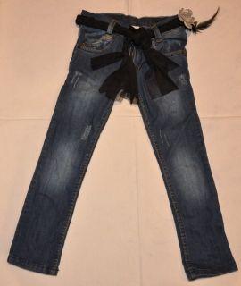 Armani Junior Girls Jeans Pants Belt 3 10 Authentic