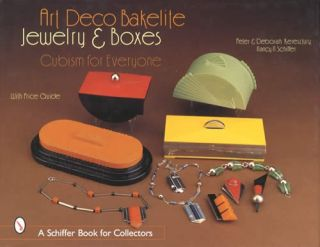 Vintage Art Deco Bakelite Jewelry Boxes Cubism Collector ID$ Guide