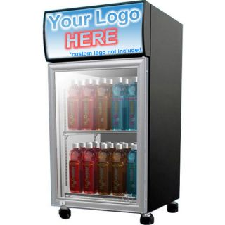 Compact Commercial Beverage Display Cooler Mini Fridge Glass Door