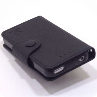 Case Protect Cover Clutch Pouch Diary Wallet Black for Apple iPhone 4