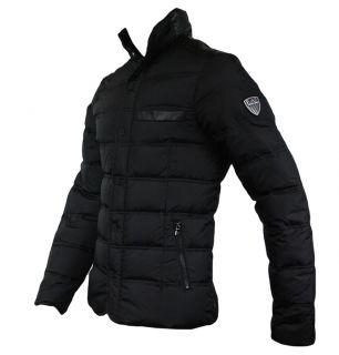 Emporio Armani EA7 271354 2A340 Mens Down Quilted Jacket Black