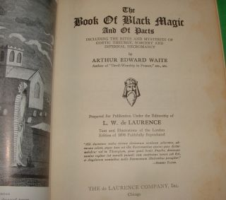 of Black Magic and Pacts Arthur Edward Waite 1910 1940 Occult