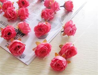 24x Hot Pink Rose Silk Flower Heads 1 2 Artificial Fake Wedding Home