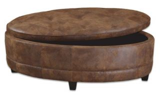 round storage ottoman in Ottomans, Footstools & Poufs