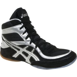 New Asics Split Second 7 Wrestling Shoes Boots Black White or Black