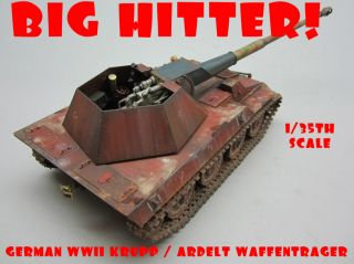 Built 1 35 German WWII 8 8cm Ardelt Krupp Waffentrager