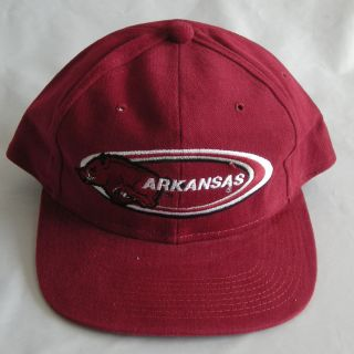 New Arkansas Razorbacks Hogs RARE Vintage Snapback Caps Hats 1990s Red