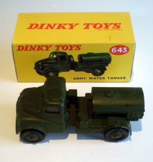 Excellent Dinky Toys Military Army Water Tanker 643 Boxed