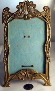 Antique Ornate Art Deco Brass Picture Frame