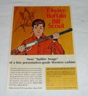1969 daisy buffalo bill bb gun air rifle ad page